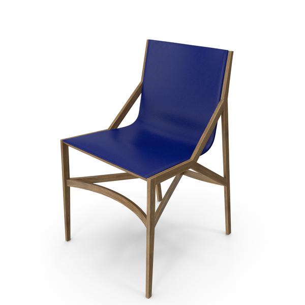 Cassina Pilotta Chair Oak Blue PNG & PSD Images