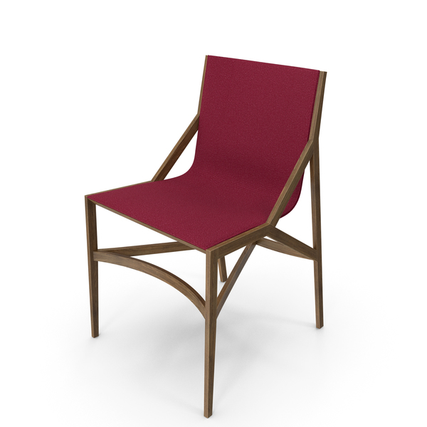 Cassina Pilotta Chair Oak Fabric Red PNG & PSD Images