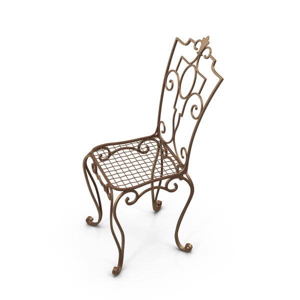 Outdoor: Cast Iron Chair PNG & PSD Images