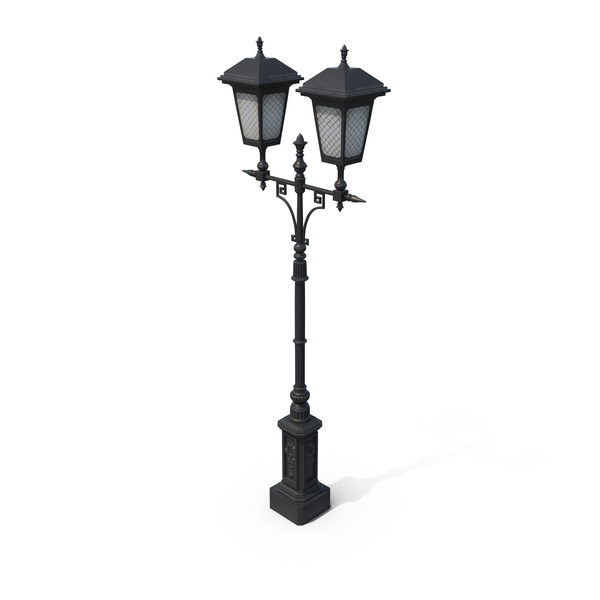 Light: Cast Iron Street Lamp PNG & PSD Images