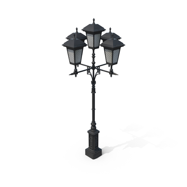 Cast Iron Street Lamp PNG & PSD Images