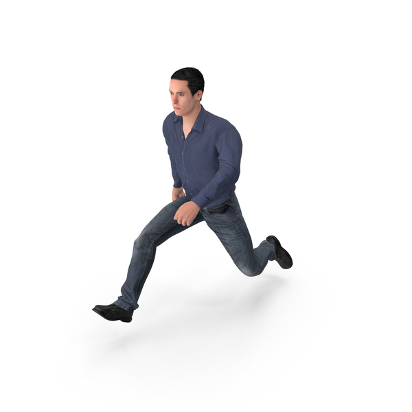 Casual Man James Jumping PNG & PSD Images