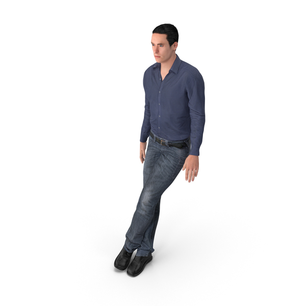 Casual Man James Leaning PNG & PSD Images