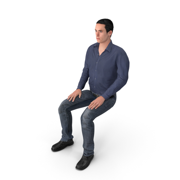 Casual Man James Sitting PNG & PSD Images