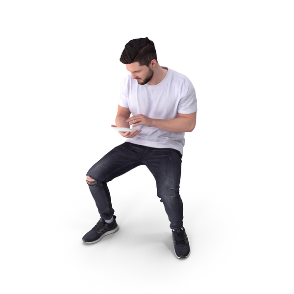 Casual Man Sitting PNG & PSD Images