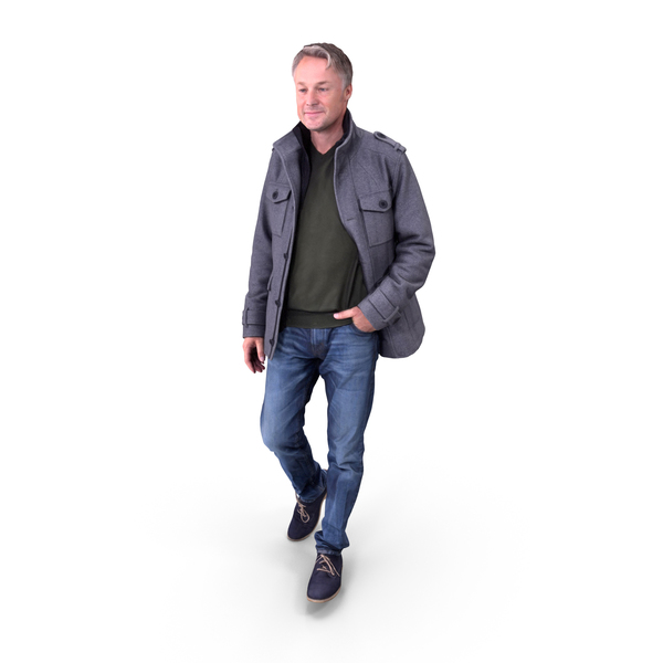 Casual Man with Hand in Pocket PNG & PSD Images