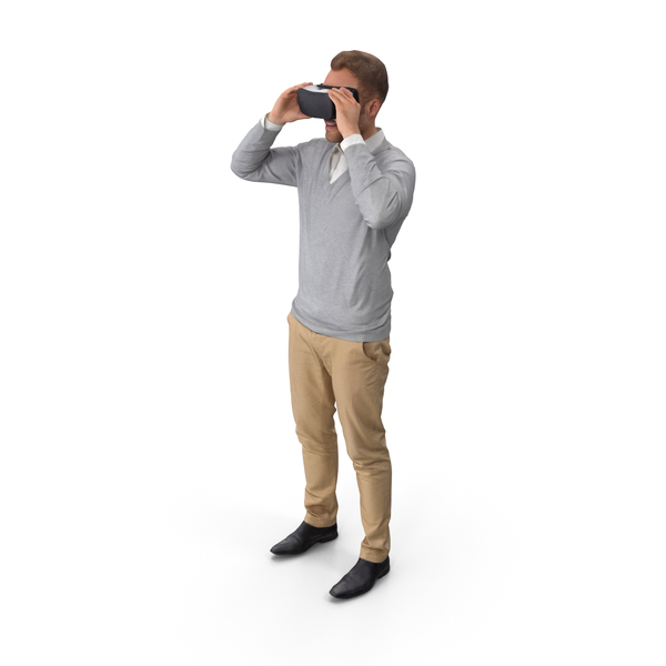 Casual Man With VR PNG & PSD Images