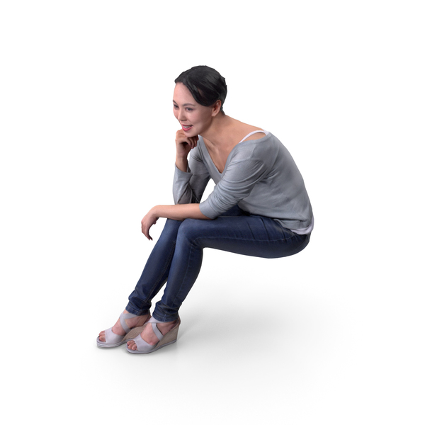 Casual Women Posed PNG & PSD Images