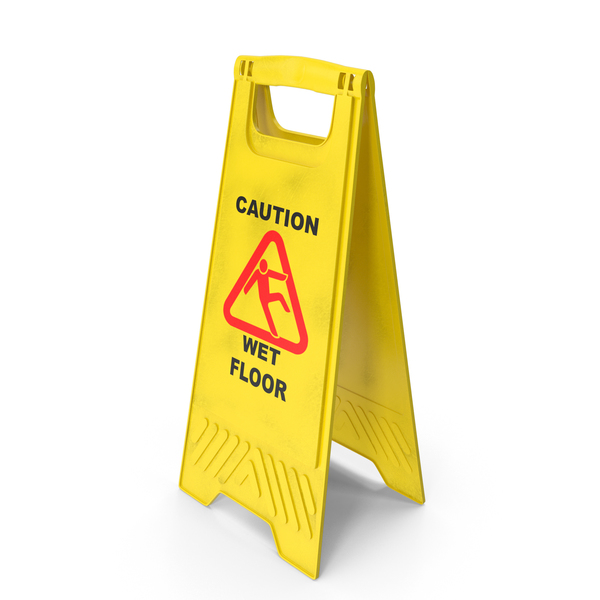 Caution Wet Floor Sign PNG & PSD Images
