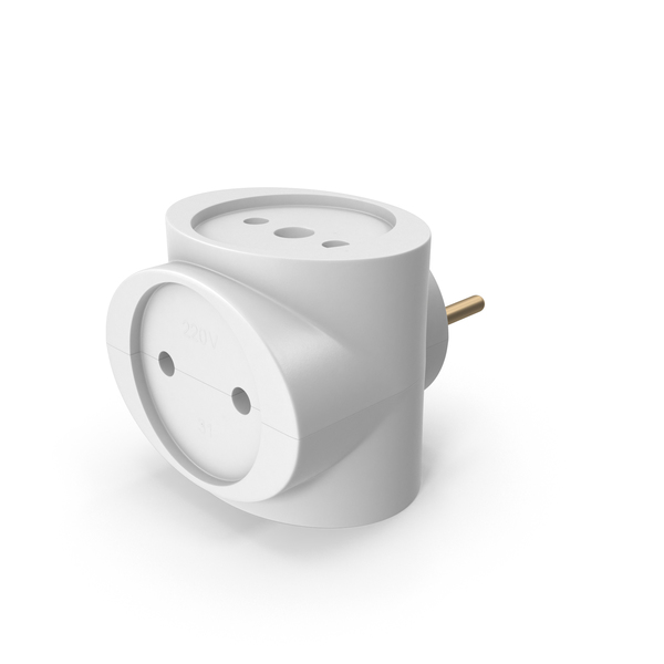 CEE 7 Three Socket Adapter PNG & PSD Images