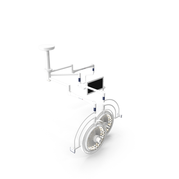 Ceiling Mount Berchtold Chromophare Two Surgical Light with Monitor PNG & PSD Images
