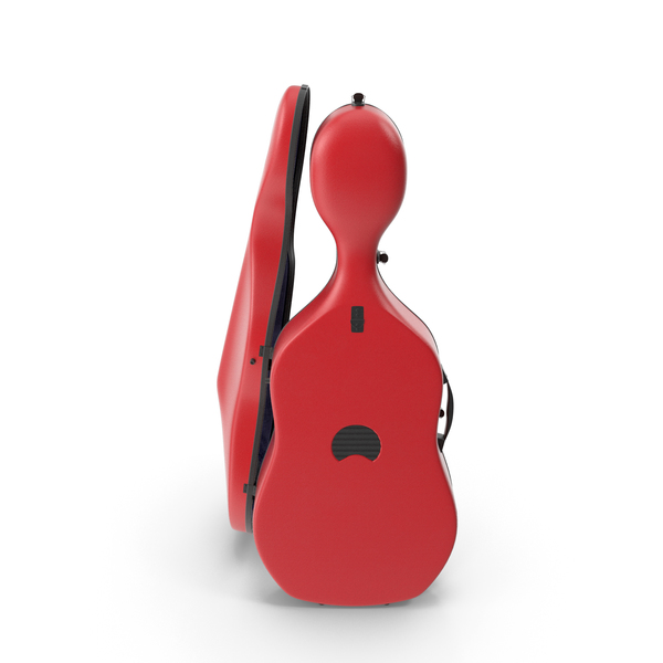 Cello Red Shell Case PNG & PSD Images