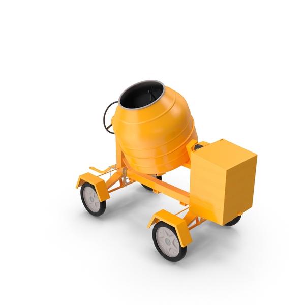 Portable Concrete: Cement Mixer PNG & PSD Images