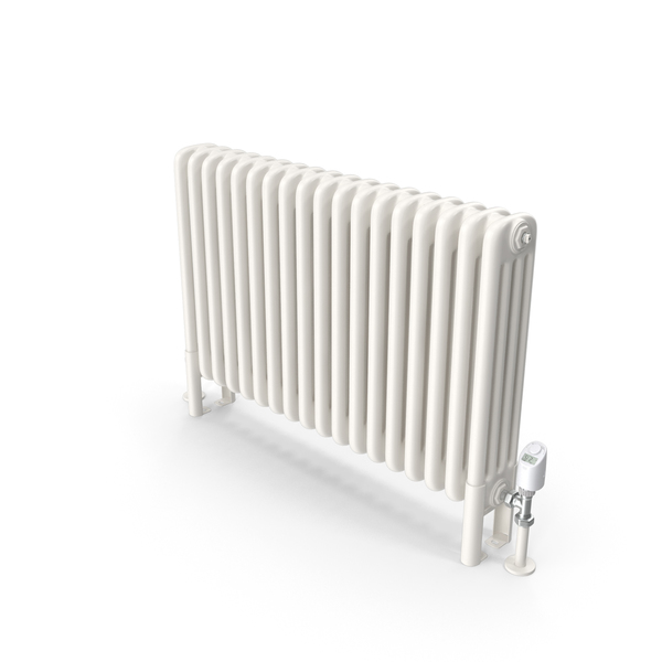 Central Heating Radiator with Thermostat PNG & PSD Images