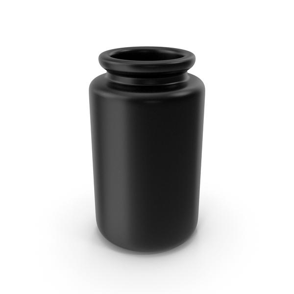 Ceramic Bottle Black PNG & PSD Images