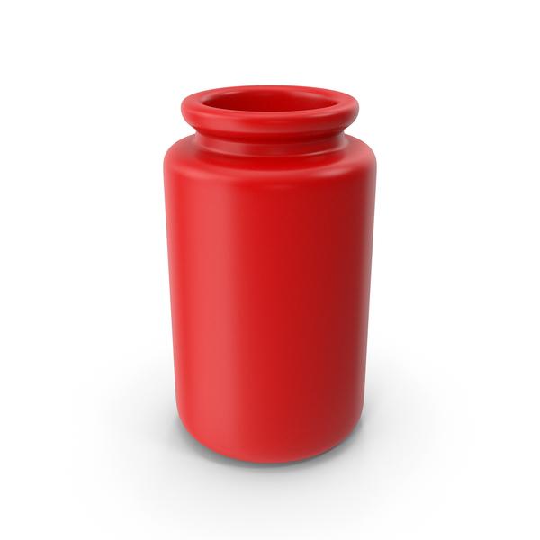 Vase: Ceramic Bottle Red PNG & PSD Images