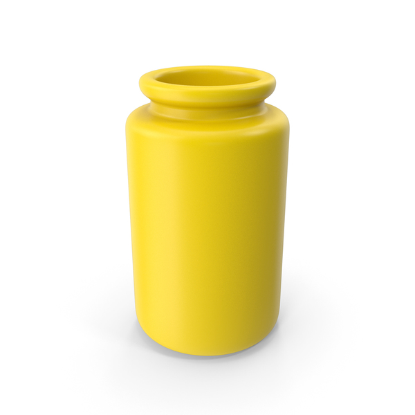 Vase: Ceramic Bottle Yellow PNG & PSD Images