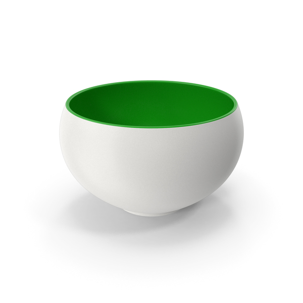 Ceramic Bowl Green White PNG & PSD Images