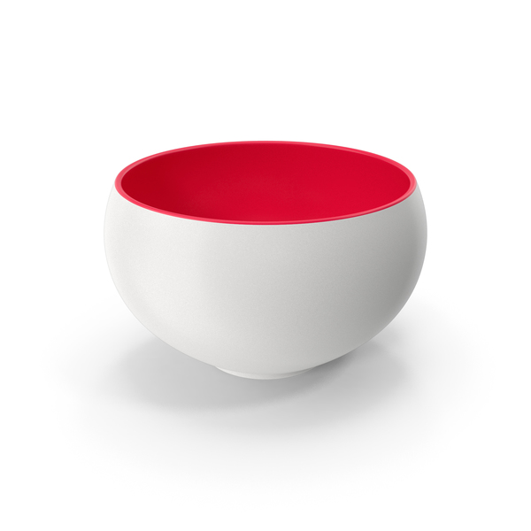 Ceramic Bowl Red White PNG & PSD Images
