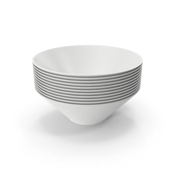 Ceramic Bowl Stack PNG & PSD Images