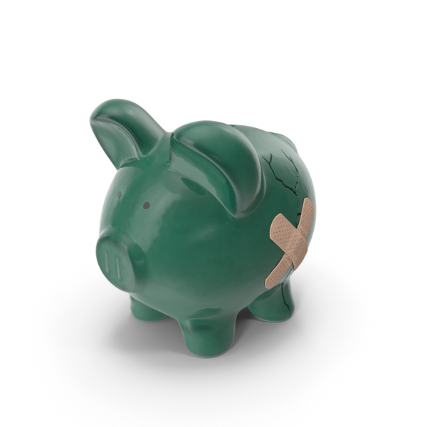 Ceramic Cracked Piggy Bank PNG & PSD Images