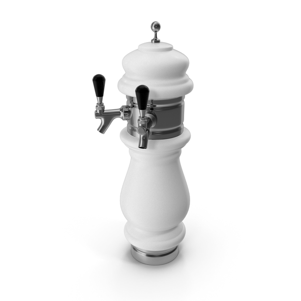 Ceramic Double Faucet Draft Beer Tower PNG & PSD Images