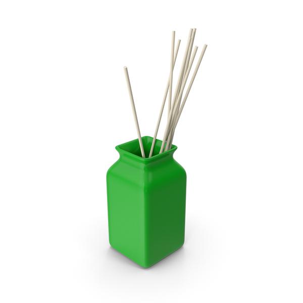 Modern: Ceramic Green Vase PNG & PSD Images