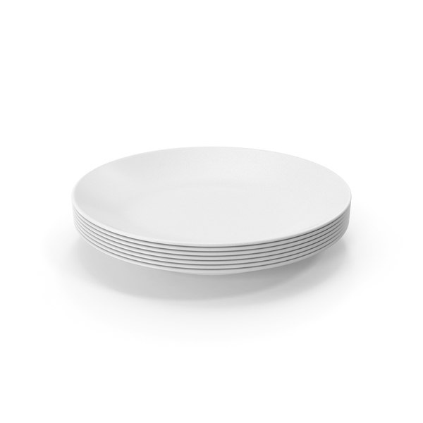 Kitchenware: Ceramic Plates Stack PNG & PSD Images