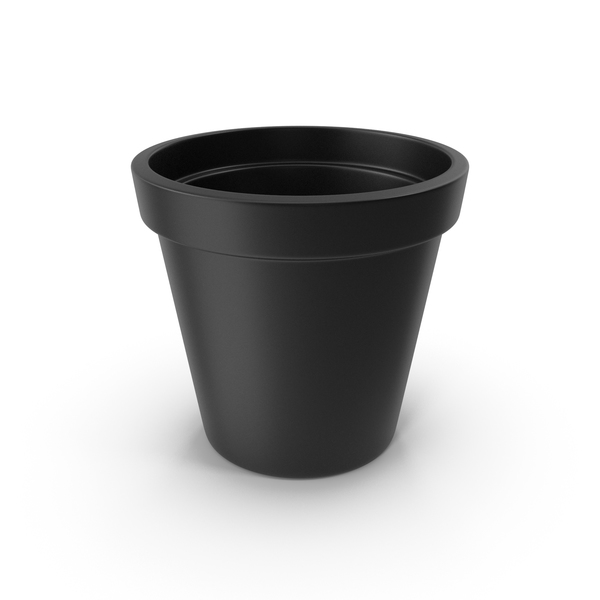 Ceramic Pot Black PNG & PSD Images