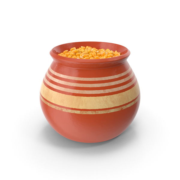 Ceramic Pot With Corn PNG & PSD Images