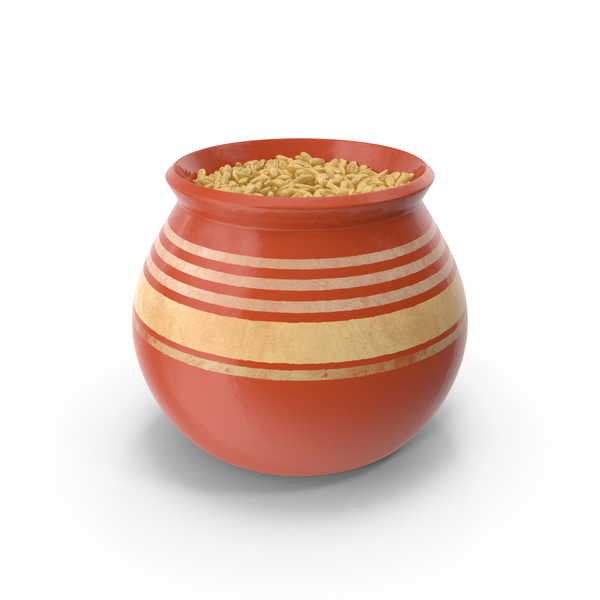 Ceramic Pot With Oats PNG & PSD Images