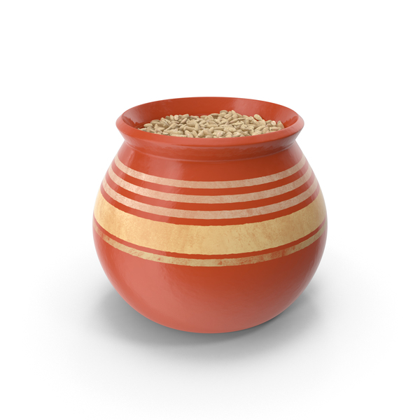 Ceramic Pot With Rye PNG & PSD Images