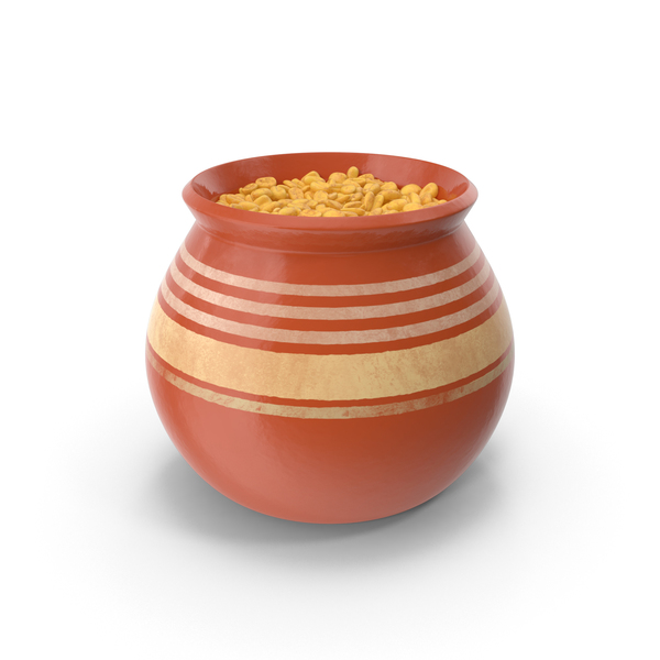 Ceramic Pot With Whole Wheat PNG & PSD Images