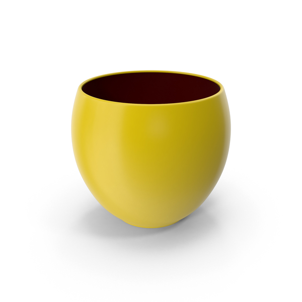 Ceramic Pot Yellow PNG & PSD Images