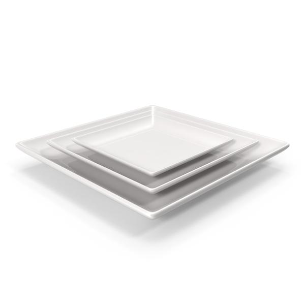 Dinner: Ceramic Serving Plate Set PNG & PSD Images