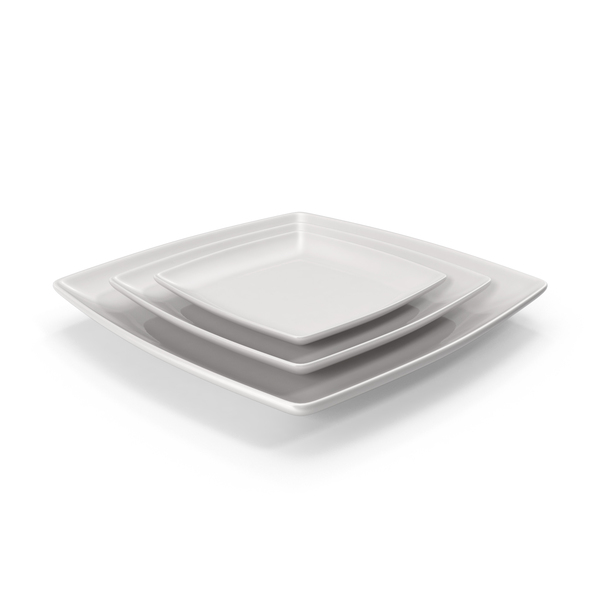 Ceramic Serving Plate Set PNG & PSD Images