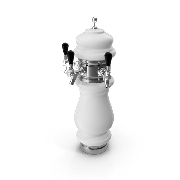 Ceramic Triple Faucet Draft Beer Tower PNG & PSD Images