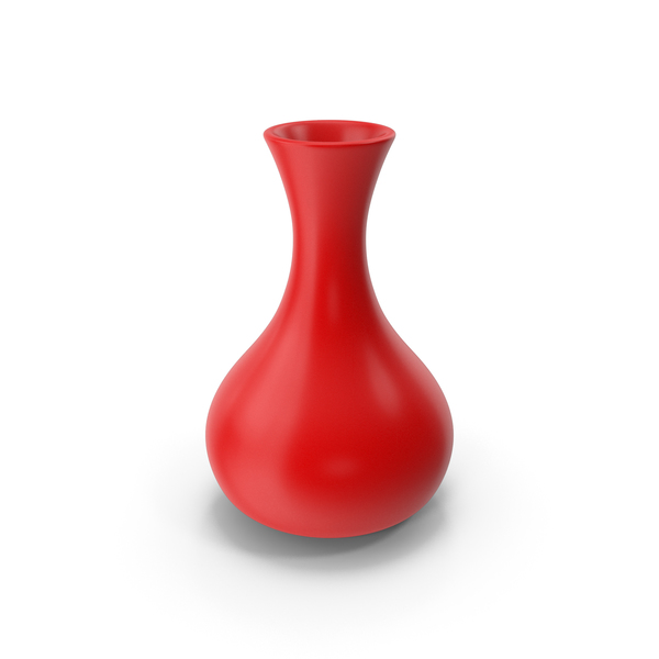 Ceramic Vase Red PNG & PSD Images