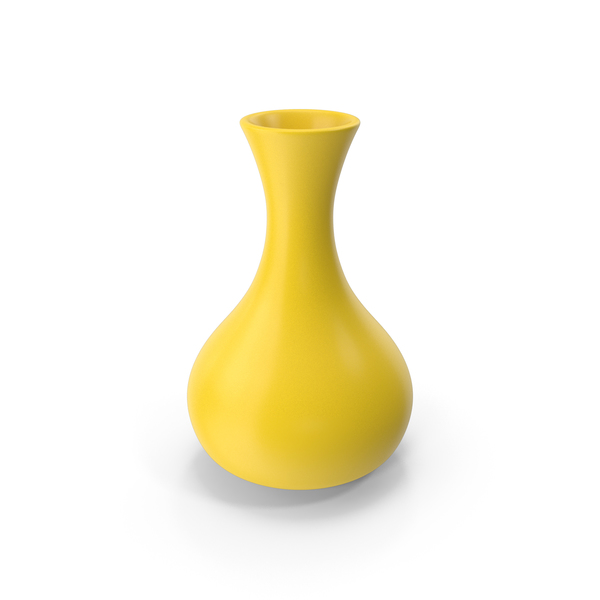 Ceramic Vase Yellow PNG & PSD Images