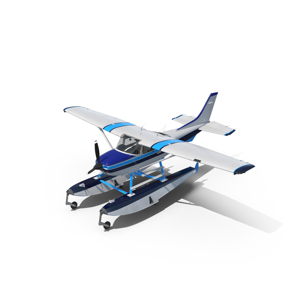 Cessna 182 Skylane on Floats PNG & PSD Images