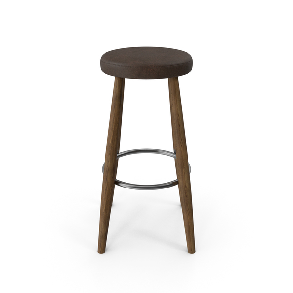 CH56 Bar Stool Walnut Brown PNG & PSD Images