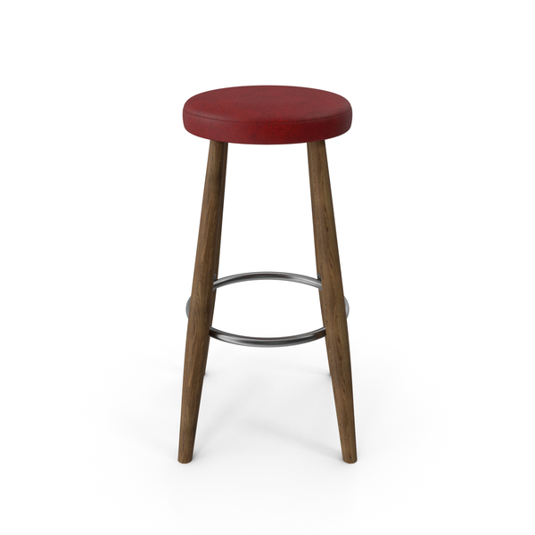 CH56 Bar Stool Walnut Red PNG & PSD Images