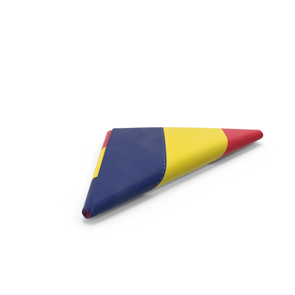 Chad Flag Folded Triangle PNG & PSD Images