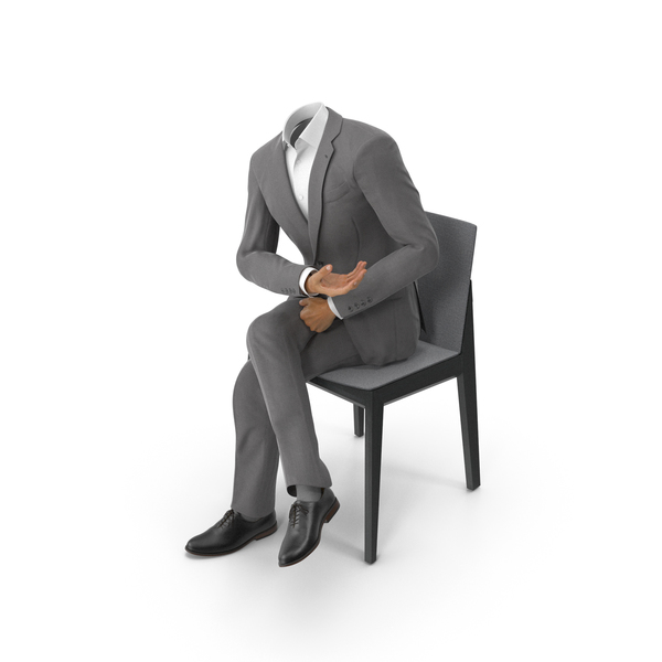Chair Discussion Phone Suit Grey PNG & PSD Images