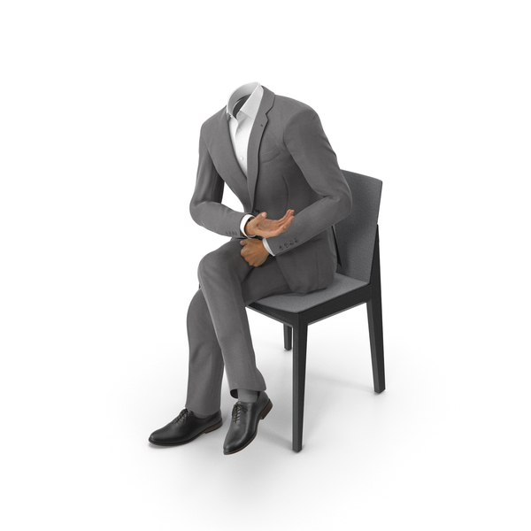 Clothing: Chair Discussion Suit Grey PNG & PSD Images