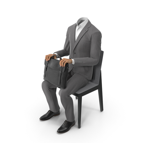Chair Waiting Bag Suit Grey PNG & PSD Images