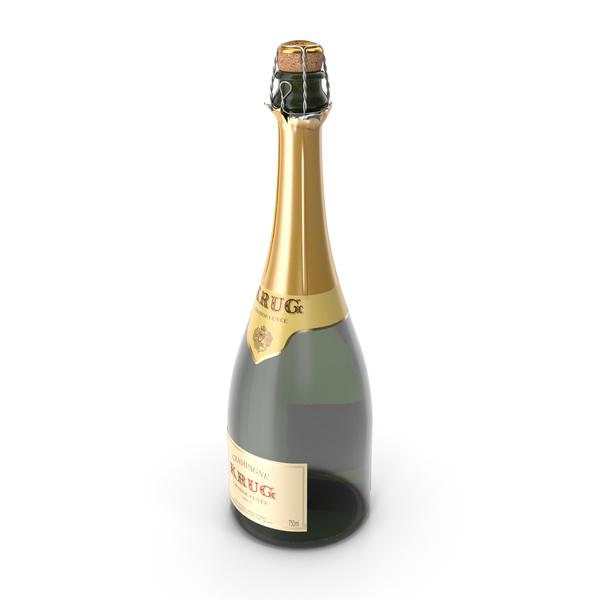 Champagne Bottle Krug Foil Top Opened PNG & PSD Images