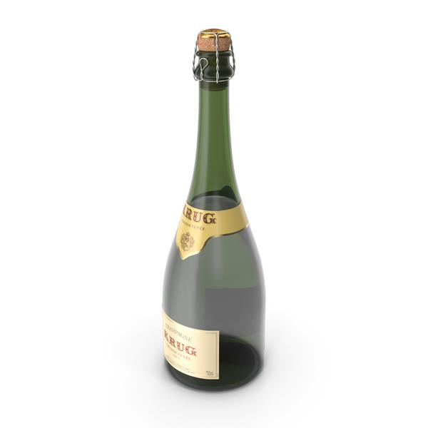 Champagne Bottle Krug Foil Top Removed PNG & PSD Images