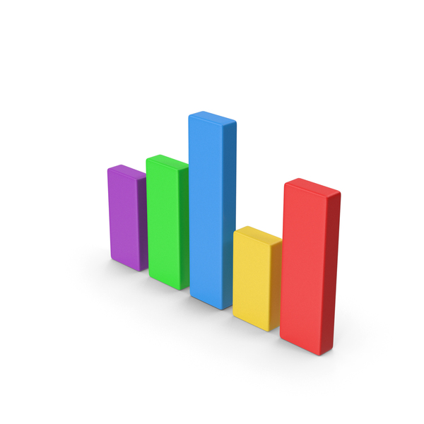 Bar Graph: Chart Colored PNG & PSD Images