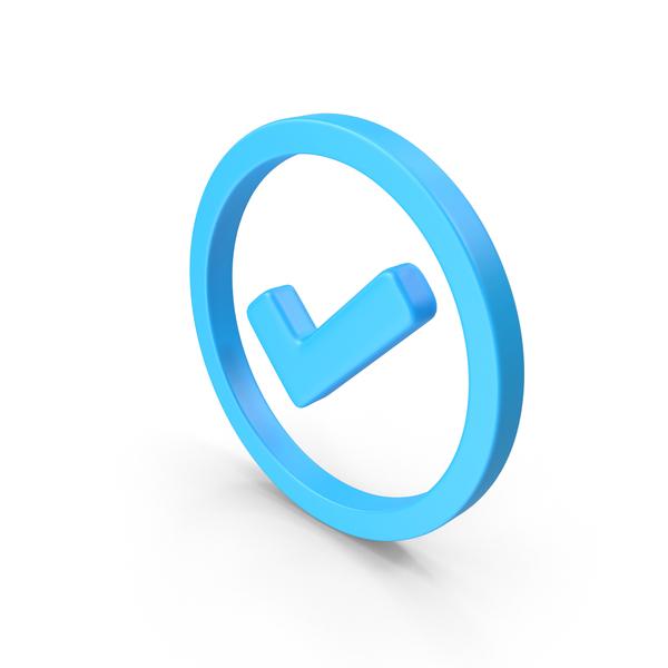 Mark: Check Circled Web Icon PNG & PSD Images